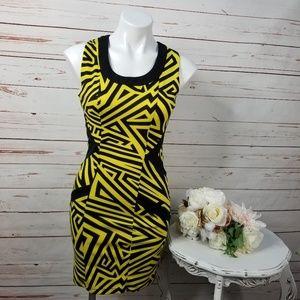 Kardashian Kollection Neon Lover Geo Print Dress
